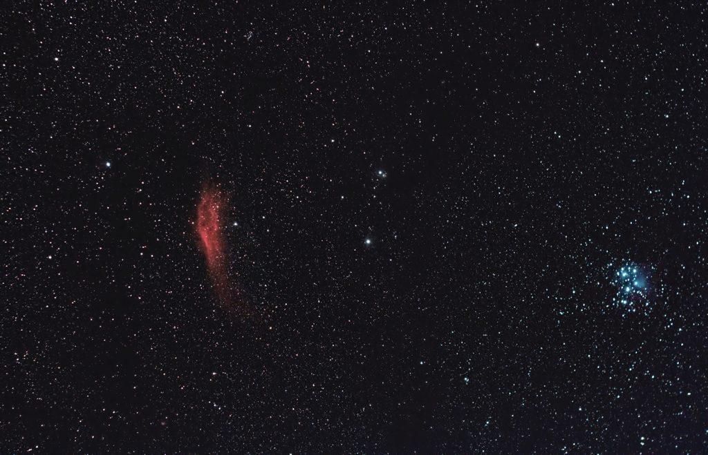 Mgławica Kalifornia i Plejady M45