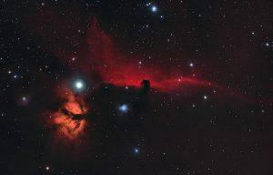 Mgławica Koński Łeb IC 434, Barnard 33,Płomień NGC 2024