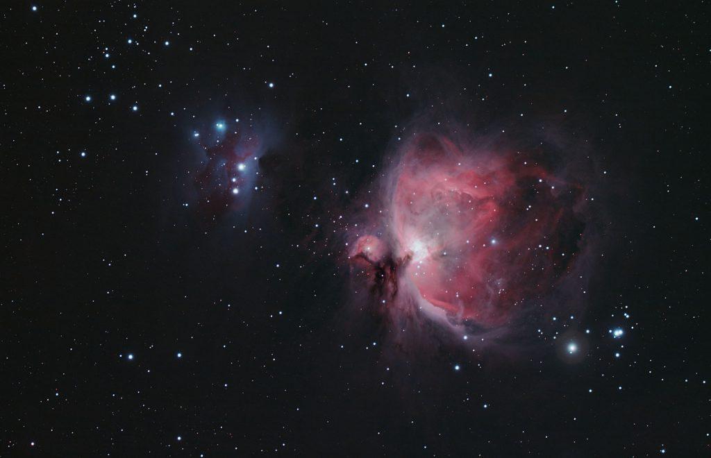 Wielka Mgławica w Orionie M42 oraz Running Man NGC 1977