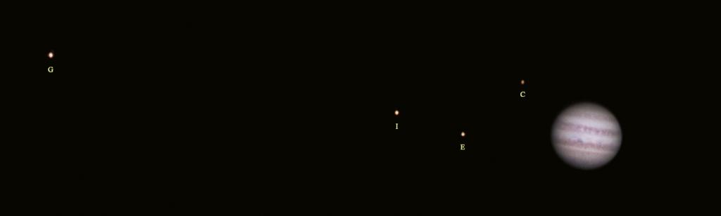 Jowisz, Io ,Calysto , Europa, Ganimedes