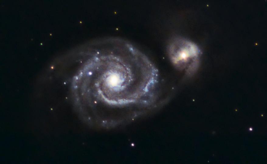 M51 Galaktyka Wir z ASI 224 MC