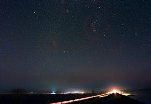 Pętla Barnarda, Gwiazdozbiór Oriona, Mgławica Rozeta, Mgławica Koński Łeb, Mgławica Płomień