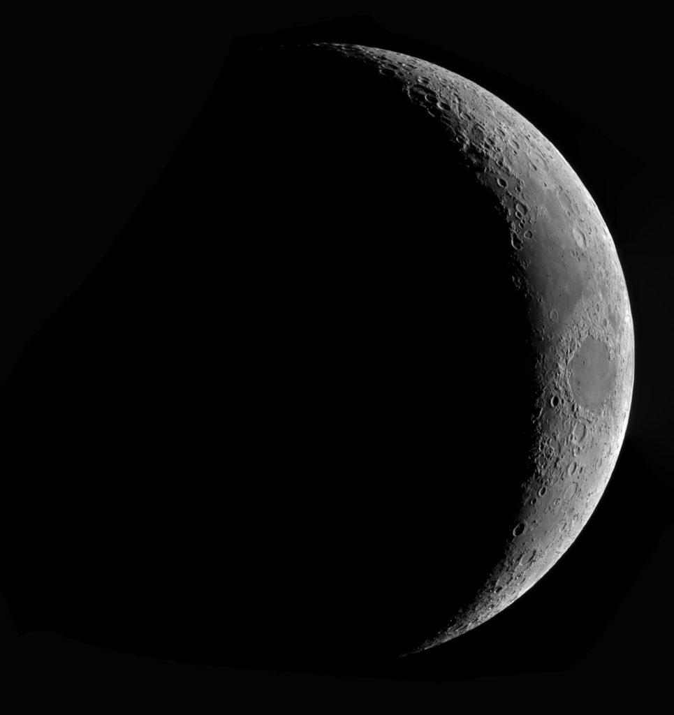 Sierp Księżyca światło popielate
