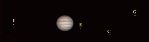 Jowisz, Io, Europa, Kallisto, Ganimedes