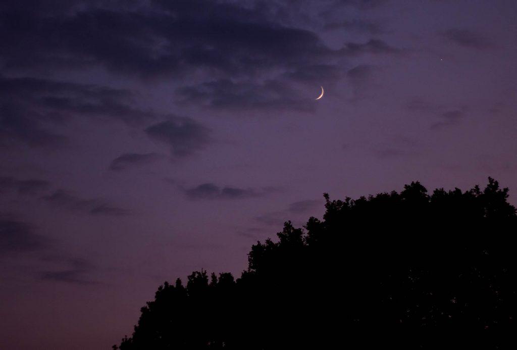 Koniunkcja Księżyca z Venus