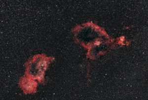Mgławice serce IC1805, dusza IC1848