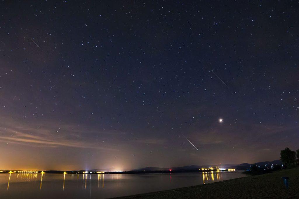 Perseidy nad jeziorem Nyskim