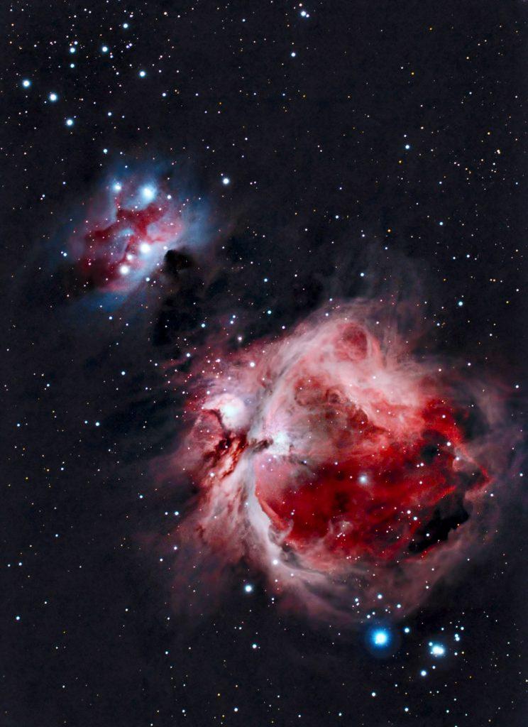 Wielka Mgławica Oriona M42, Running Man NGC 1977
