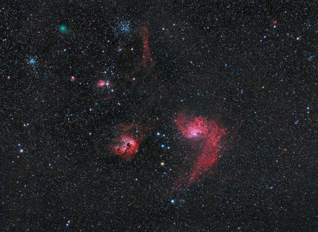 Kometa C/2018 Y1 Iwamoto w gwiazdozbiorze Woźnicy