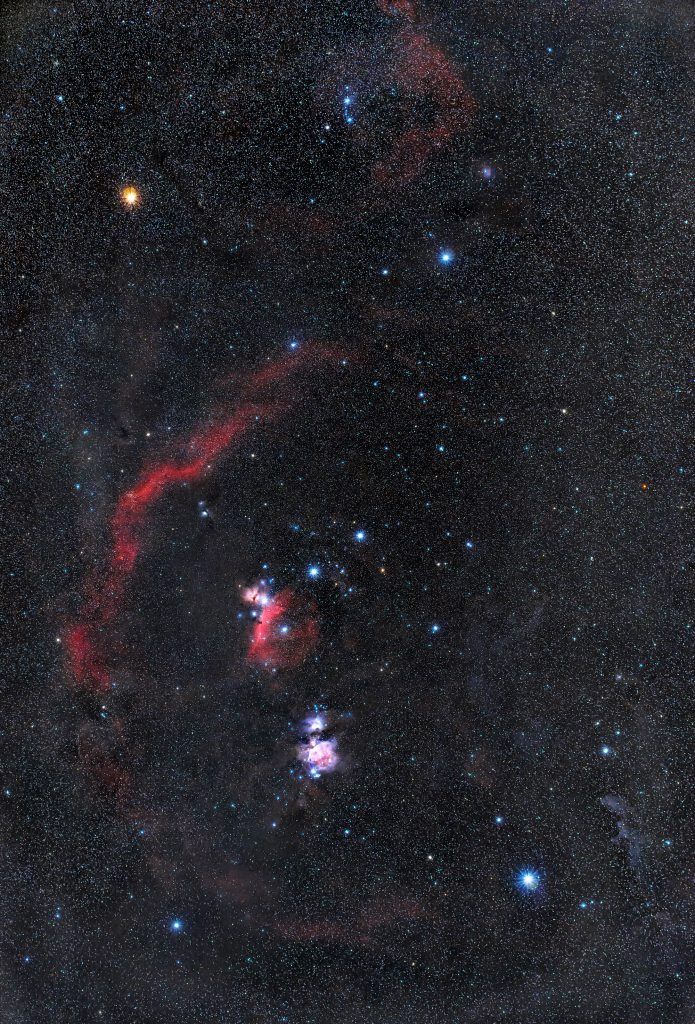 Gwiazdozbiór Oriona (M42,NGC 2024,IC 2118,NGC 1977, M78,SH 2-276,IC 434)