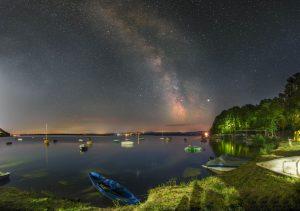 Droga Mleczna nad jeziorem Nyskim