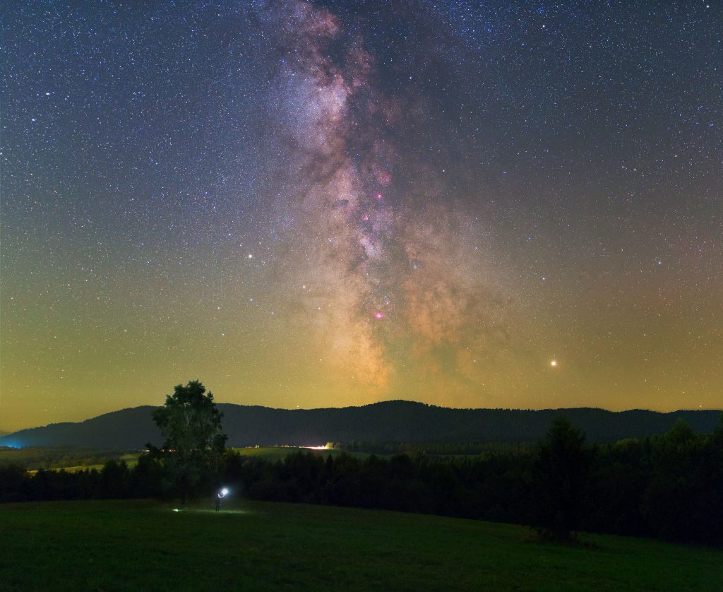 Widok na Centrum Drogi Mlecznej