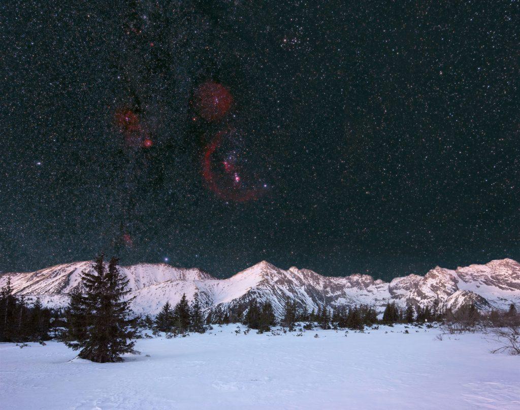 Gwiazdozbiór Oriona nad Tatrami