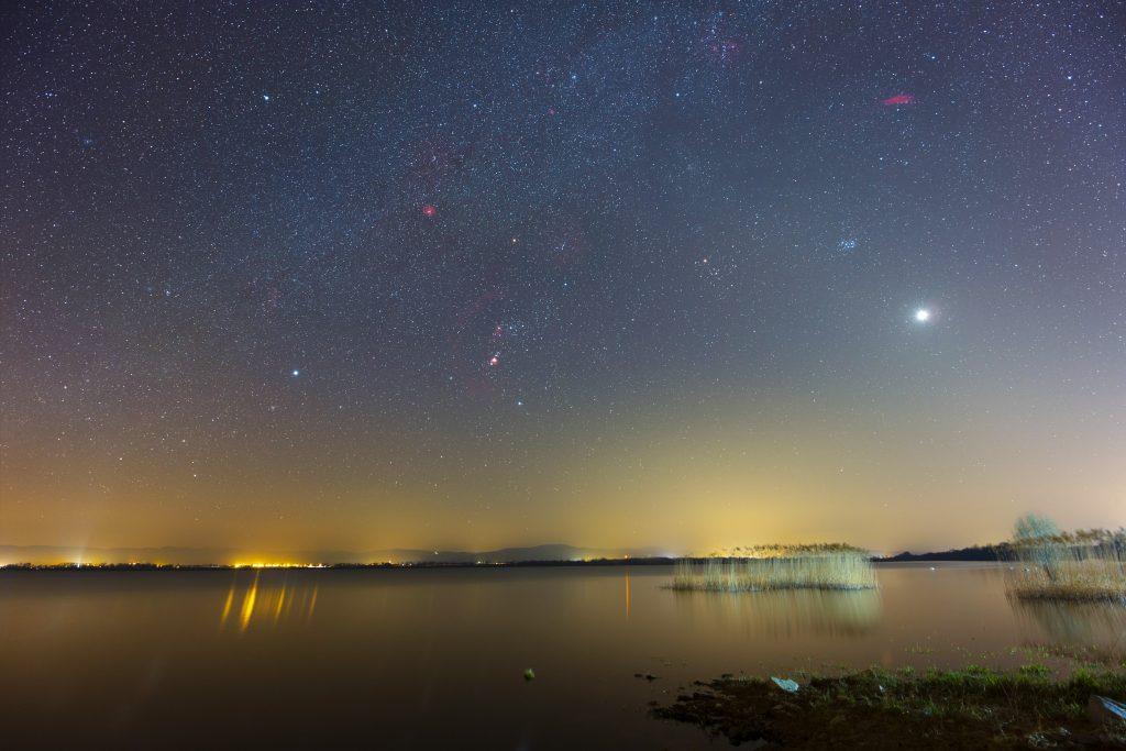 Orion nad jeziorem Otmuchowskim