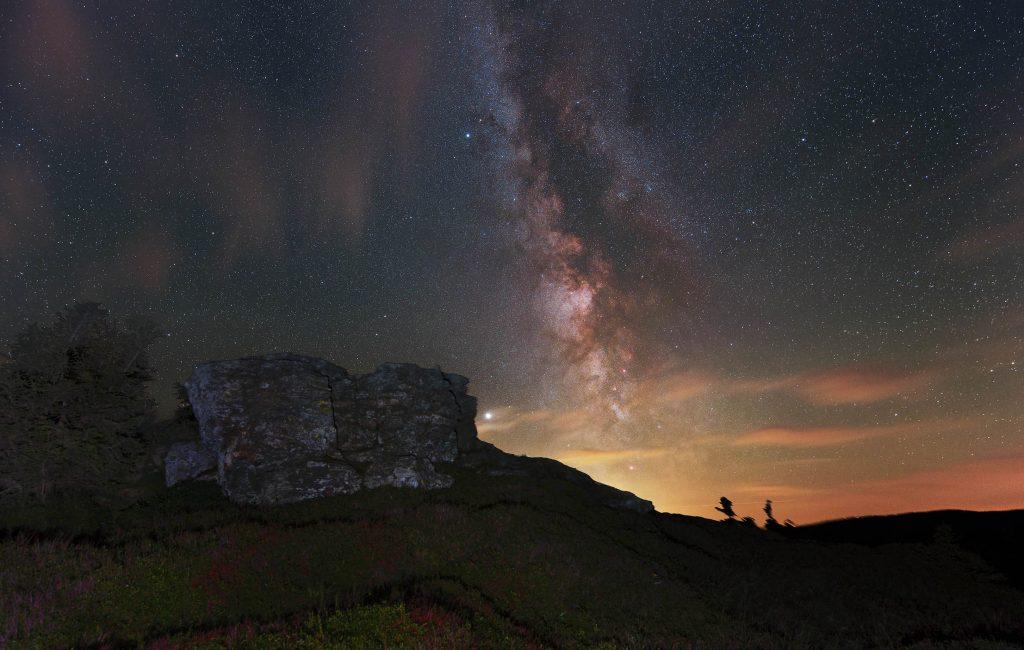 Sierpniowa Droga Mleczna nad Cervena Hora