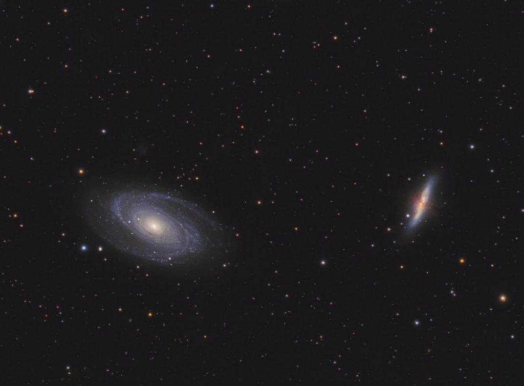 Galaktyki wielkiej niedźwiedzicy Cygaro M82, Bodego M81