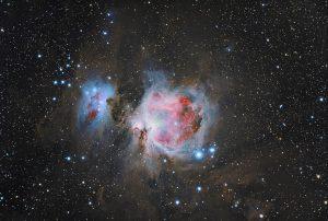 Wielka Mgławica Oriona M42 wraz z Mgławicą Running Man NGC 1977
